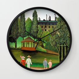 Henri Rousseau - View of Montsouris Park, the Kiosk - Digital Remastered Edition Wall Clock