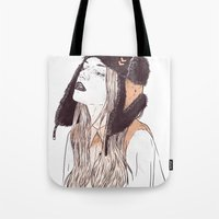 russian Tote Bags featuring Russian by Lola Beltrán