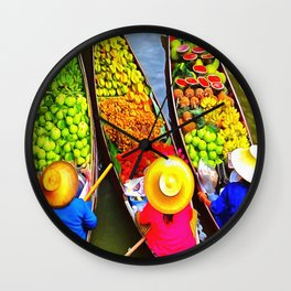 Floating Past Wall Clock