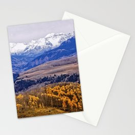 Mountain majesty and autumn gold Stationery Cards