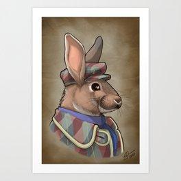 Edwardian Rabbits: Lord Hoppington Art Print