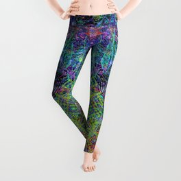 Con-Tici Cosmogenesis (abstract, psychedelic, visionary) Leggings