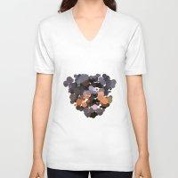 rottweiler V-neck T-shirts featuring Rottweiler by Glen Gould