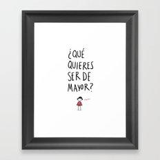 Pequeña Framed Art Print