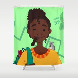 Super NOM Shower Curtain