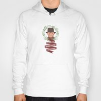 freddy krueger Hoodies featuring Freddy Krueger Christmas by Big Purple Glasses