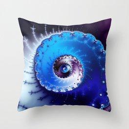 """""""Whirlpool"""" Spiral Fractal Art Print Throw Pillow"""