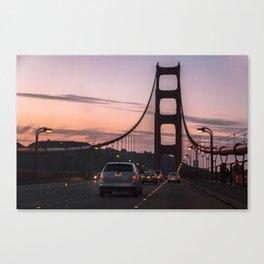 Sunset on Golden Gate Canvas Print