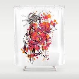 Secrets of the Geisha - Beautiful Chinese Girl Shower Curtain