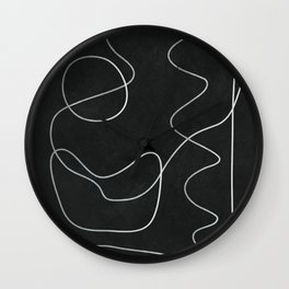 Abstract Line V Wall Clock