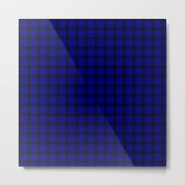 Small Dark Blue Weave Metal Print