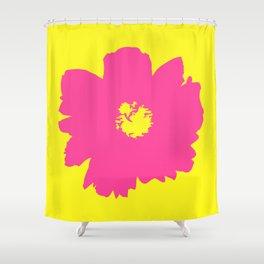 Pink Peony (Yellow) Shower Curtain