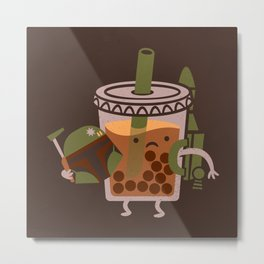 Boba Tea Fett Metal Print
