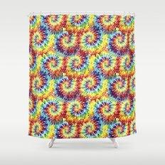 tie dye Shower Curtain