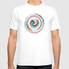 Whirl #2 White Mens Fitted Tee MEDIUM