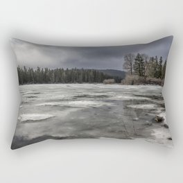 Fish Lake in Transition Rectangular Pillow