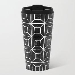 Geometric Lino Printed Pattern Travel Mug