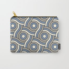 Circle Swirl Pattern Ever Classic Gray 32-24, Dusk Sky Blue 27-23, and Dove White 33-6 Carry-All Pouch