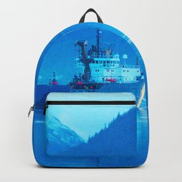 Ship on loch Backpack