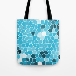 Ice Blue tile pattern Tote Bag