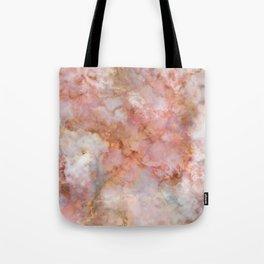 Beautiful & Dreamy Rose Gold Marble Tote Bag