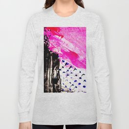Funky abstract pink Long Sleeve T-shirt