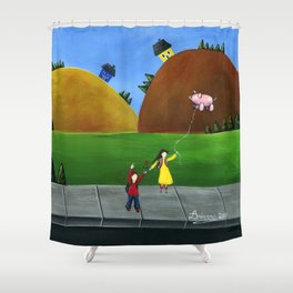Hilly High Shower Curtain