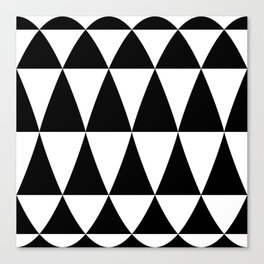Triangle waves and swirls Canvas Print