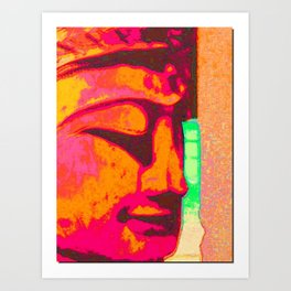 psychedelic buddha buddy Art Print