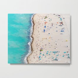 Line in the Sand Metal Print