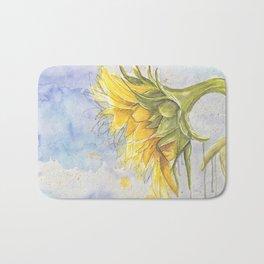 Helianthus annuus: Sunflower Abstraction Bath Mat