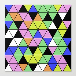 Pastel Triangles - Pastel themed, geometric, abstract, triangular pattern Canvas Print