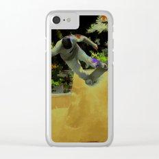 Skateboarding Fool Clear iPhone Case