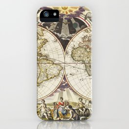 Map of France, Spain, and Portugal; Switzerland in cantons [inset]; Island of Corsica (1863) by Samu iPhone Case