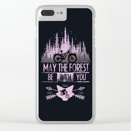 Forest Ride Clear iPhone Case