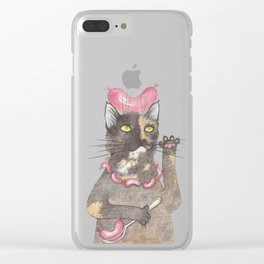 """Wurst cat"" Clear iPhone Case"