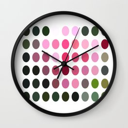 Pink Roses in Anzures 6 Dots Wall Clock