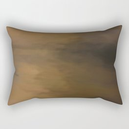 Abstract Beige and Brown to Black Shades.  Like painted on canvas. Rectangular Pillow
