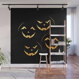 Scary jack-o-lantern Wall Mural