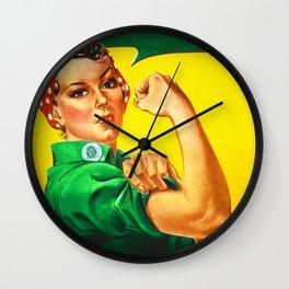 Italian Rosie The Riveter Woman Women Empowerment Women's Rights Italian American Wall Clock