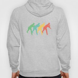Baseball Pitcher Retro Pop Art Graphic Hoody