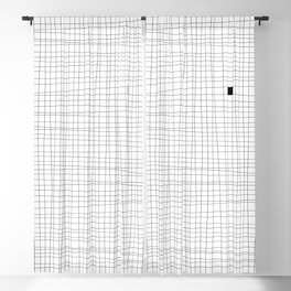 White and Black Grid - Something's missing Blackout Curtain