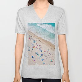 Colors of Manhattan Beach California Unisex V-Neck