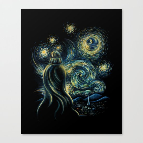 Death Starry Night Canvas Print