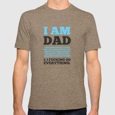 I am Dad Mens Fitted Tee MEDIUM Tri-Coffee