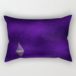 Purple Ship Rectangular Pillow