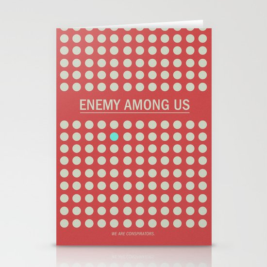 Enemy Among Us I Stationery Cards