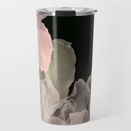 Blush Abstract Roses on Blackground Travel Mug