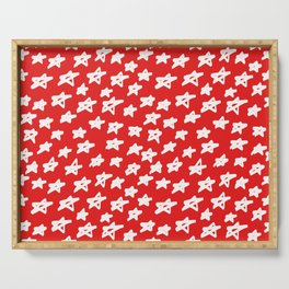 Stars on red background Serving Tray