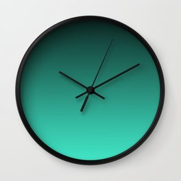 Turquoise Ombre. Wall Clock
